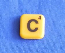 Words With Friends Letter C Tile Replacement Magnet Game Part Piece Craft Yellow