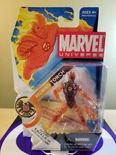 MARVEL UNIVERSE HUMAN TORCH ACTION FIGURE 2008 HASBRO NEW SEALED