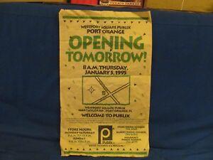 PUBLIX SUPERMARKET GRAND OPENING NEWSPAPER AD JAN 5 1995 PORT ORANGE FLORIDA