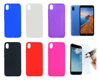 """Case Cover Gel TPU Silicone For Xiaomi Redmi 7A (4G) 5.45"""" + Optional Protector"""