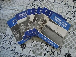 Full season of Ipswich 1963-64 home programmes - 27 programmes in all