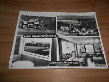 Finsterbergen Cafe Waldschlößchen innen außen ca. 70er Jahre