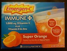 Emergen-C Immune Plus Super Orange Vitamin C + D & Zinc 30 Packets 1-DAY Ship