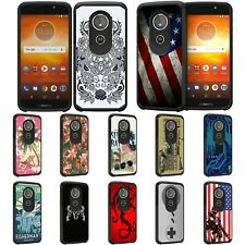 For Motorola Moto E5 / G6 Play / G6 Forge Hybrid Dual Layer Fitted Slim Case