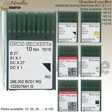 GROZ-BECKERT Overlocking Industrial Sewing Machine Needles B27 81 x 1 All sizes