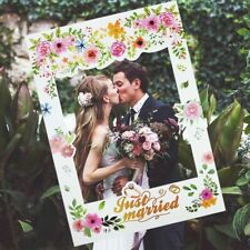 Just Married Wedding Photo Booth Props Photo Frame Wedding Decoration Bridal New