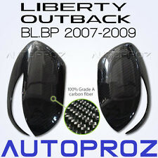 Carbon Fiber Car Side Mirror Cover For Subaru Outback Liberty BL BP 2007-2009 AT