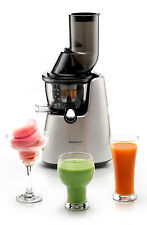 Kuvings Whole Slow Juicer C9500 Entsafter Silber mit Eis und Smoothie Strainer