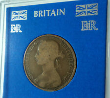 1890-1894 Queen Victoria Victorian Young Bun Head 1d Old GB Penny Coin Gift Set