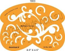 CURVES & ARCS DESIGN SHAPES TEMPLATE  FOR JEWELLERY CASTING OR  DESIGNING