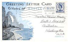 WHITLEY BAY NORTH TYNESIDE UK GREETING LETTER CARD 6 BLACK & WHITE VIEWS c1961