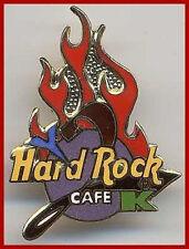 "Hard Rock Cafe ONLINE 1990s ""Y2K"" Flames Logo PIN ON-LINE Year 2000 Millennium!"