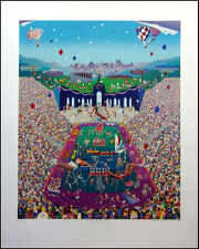 "Melanie Taylor Kent ""Let the Games Begin"" Hand Signed Serigraph on Paper"