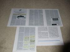 Conrad Johnson Premier 11 Tube Amplificatore Review, 1994