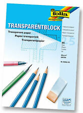 Folia Transparentpapier 1 Block 25 Blatt DIN A4 80g/m² Schule Architekt Zeichnen