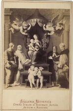 La Madone au baldaquin de Raphaël Photographie d'après gravure Albumine c1890