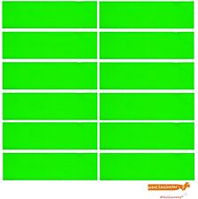 12 NEON GREEN TERRY SWEATBAND Cotton Headbands Workout Quality Sport TRACK BANDS