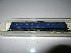 N - Minitrix 13177 Illuminated Orient Express CIWL Baggage Car - Dark Blue RARE