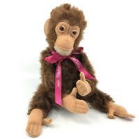 Steiff Jocko Chimp Mohair Plush 25cm 10in Jointed Monkey no ID Vintage