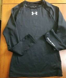 Under Armour Black Long Sleeve Coldgear Youth Fitted Med.  Pre-Owned