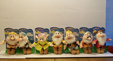DISNEY'S SNOW WHITE & THE 7 DWARFS STUFFED PLUSH DWARFS SET