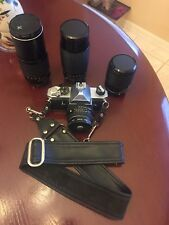 Pentax MX SLR 35mm Film Camera & M 50mm f/1.7 Lens Vivitar 49mm UV-Haze & lenses