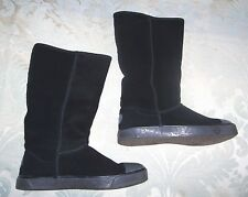UGG Black Sheepskin Boots with Black Shearling Lining Size 4.5 - NEW (£169.99)