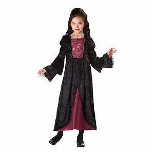 Burgundy Evil Queen Girl's Halloween Costume NEW Size Large Dress & Sleeves