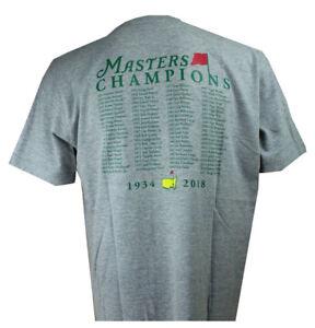 2018 Masters Golf Tournament Champions Grey Short Sleeve T Shirt X-Large XL