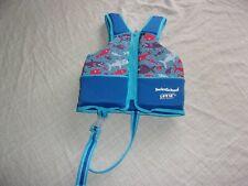 "Swim School Life Jacket 33 - 55 LBS 22"" Chest UPF 50 Resist Rays Shark Fish Vest"