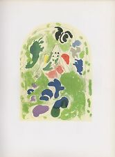 "1988 Vintage MARC CHAGALL ""TRIBE OF ISSACHAR"" 1st SKETCH COLOR Print Lithograph"