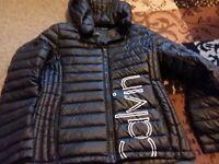 Calvin Klein Womens Black Puffer Jacket Size M Down