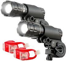 Bright Eyes Aircraft Aluminium Waterproof 300 Lumen LED Bike Light Set 2 Pack