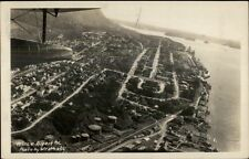 Prince Rupert BC British Columbia From Airplane Real Photo Postcard