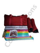4 Color  Racks 4 Color Pushers American Mah Jong Set Burgundy Bag