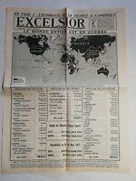 N968 La Une Du Journal Excelsior 6 avril 1917 le monde entier en guerre