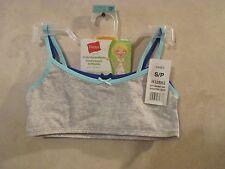 Nip 2 Girls HANES S White Crop Top Pullover Cotton Spandex Training Bra