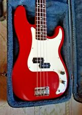 '96 Fender MIM Precision P Bass - Red w/hard case