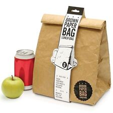 Luckies Brown Paper Lunch Bag Retro Style Re-usable Lunch Bag / Box - Insulated