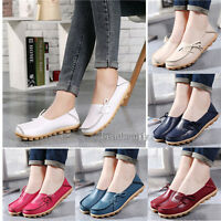 Casual Women Soft Real Leather  Flat Moccasins Loafers Pregnant Drive Shoes