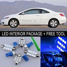 Blue LED Interior Package Light Bulb 8X Kit For 2006 2012 Honda Civic + Tool J
