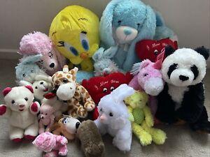 Preloved Bulk 20x Mixed Sized Soft Toy Plush Stuffed Teddies