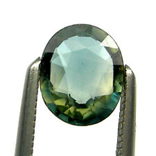 0.68 carat 6x5mm Oval Green/Blue/Yellow Natural Australian Parti Sapphire, OPS60