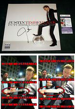 "JUSTIN TIMBERLAKE signed ""FUTURESEX/ LOVESOUNDS"" ALBUM LP Exact Proof - JSA COA"