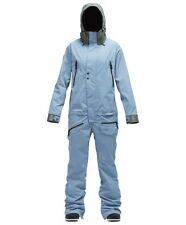 2018 NWT Airblaster Womens Freedom Suit M Medium 15K Snowboard Storm Blue ac825