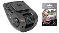 BUNDLE - Rexing V1 Car Dash Cam 2.4 LCD FHD 1080p & Samsung 128GB MicroSD / NEW
