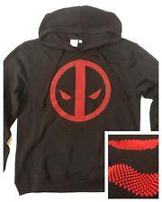 Marvel Comics Hoody/Hoodie: DEADPOOL! Studded/Raised 3D Logo (men's medium)