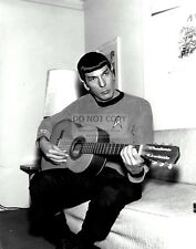 "LEONARD NIMOY AS ""MR. SPOCK"" PLAYING A GUITAR - 11X14 PUBLICITY PHOTO (LG142)"