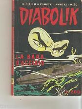 DIABOLIK - N.20 - LA BARRA D'ACCAIO - ANNO IX