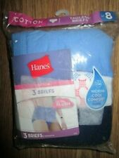 Womens HANES COTTON TAGLESS BRIEFS 3 PACK sz 8 NEW panties